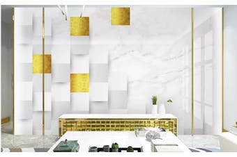 3D Marble DecorativeGeometry Graphical Wall Mural Wallpaper  D39 Self-adhesive Laminated Vinyl-W: 420cm X H: 260cm