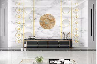 3D Marble DecorativeGeometry Graphical Wall Mural Wallpaper  D33 Self-adhesive Laminated Vinyl-W: 320cm X H: 225cm