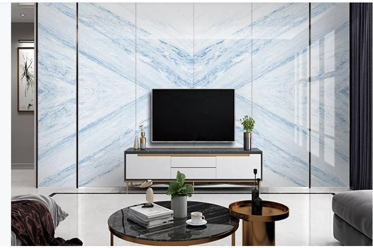 3D Marble DecorativeGeometry Graphical Wall Mural Wallpaper  D31 Self-adhesive Laminated Vinyl-W: 210cm X H: 146cm
