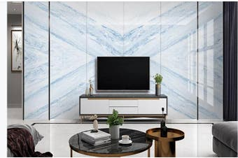 3D Marble DecorativeGeometry Graphical Wall Mural Wallpaper  D31 Self-adhesive Laminated Vinyl-W: 320cm X H: 225cm
