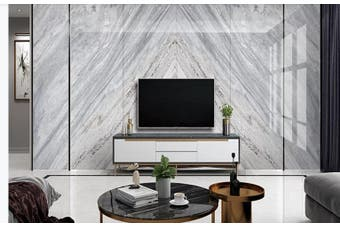 3D Marble DecorativeGeometry Graphical Wall Mural Wallpaper  D30 Self-adhesive Laminated Vinyl-W: 525cm X H: 295cm
