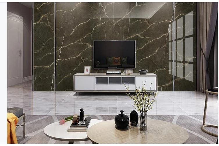 3D Marble DecorativeGeometry Graphical Wall Mural Wallpaper  D29 Self-adhesive Laminated Vinyl-W: 210cm X H: 146cm