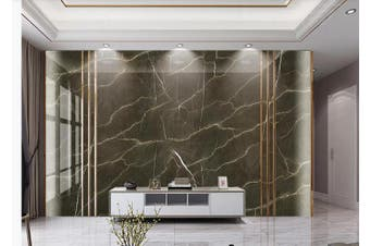 3D Marble DecorativeGeometry Graphical Wall Mural Wallpaper  D29 Self-adhesive Laminated Vinyl-W: 320cm X H: 225cm