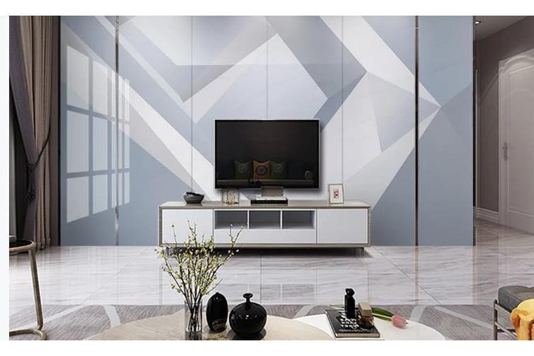 3D Marble DecorativeGeometry Graphical Wall Mural Wallpaper  D27 Self-adhesive Laminated Vinyl-W: 210cm X H: 146cm