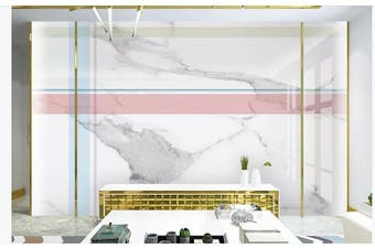 3D Marble DecorativeGeometry Graphical Wall Mural Wallpaper  D26 Self-adhesive Laminated Vinyl-W: 210cm X H: 146cm