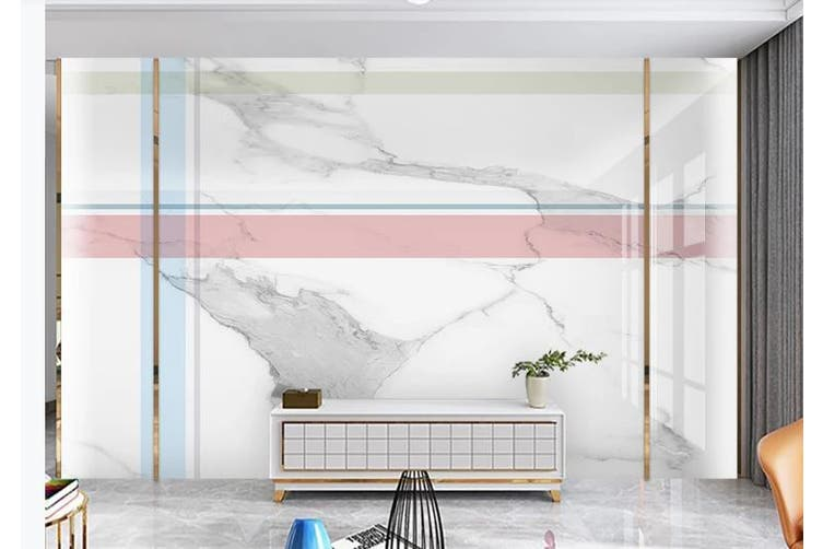 3D Marble DecorativeGeometry Graphical Wall Mural Wallpaper  D26 Self-adhesive Laminated Vinyl-W: 420cm X H: 260cm