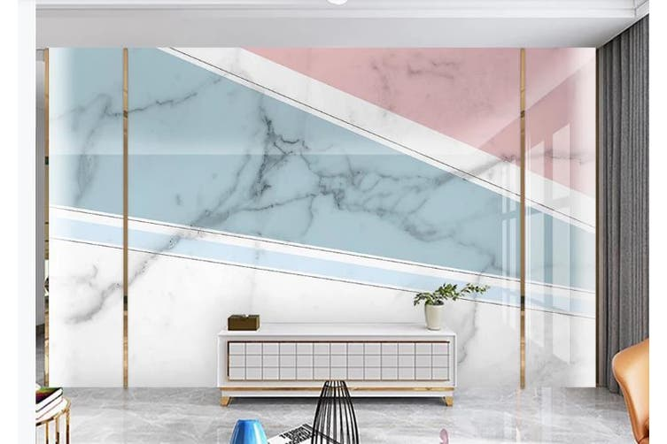 3D Marble DecorativeGeometry Graphical Wall Mural Wallpaper  D25 Self-adhesive Laminated Vinyl-W: 320cm X H: 225cm