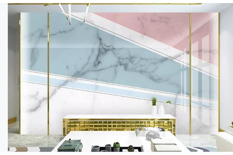 3D Marble DecorativeGeometry Graphical Wall Mural Wallpaper  D25 Self-adhesive Laminated Vinyl-W: 420cm X H: 260cm