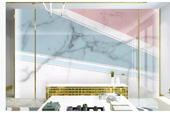 3D Marble DecorativeGeometry Graphical Wall Mural Wallpaper  D25 Self-adhesive Laminated Vinyl-W: 525cm X H: 295cm