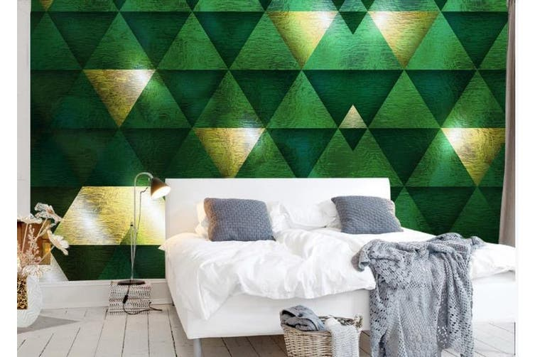 3D Marble Decorative Geometry Triangle Wall Mural Wallpaper  D24 Self-adhesive Laminated Vinyl-W: 210cm X H: 146cm
