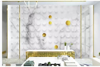 3D Solid Geometry Ring Speckle Wall Mural Wallpaper  D18 Self-adhesive Laminated Vinyl-W: 320cm X H: 225cm
