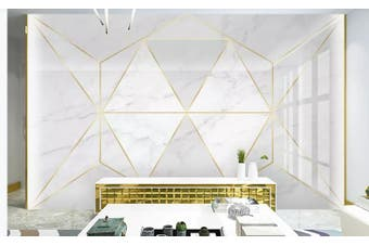 3D Solid Geometry White Triangle Wall Mural Wallpaper  D15 Self-adhesive Laminated Vinyl-W: 420cm X H: 260cm