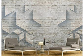 3D Solid Geometry Brick Wall Diamond Wall Mural Wallpaper  D14 Self-adhesive Laminated Vinyl-W: 525cm X H: 295cm