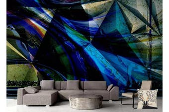 3D Solid Geometry Color Triangle Wall Mural Wallpaper  D13 Self-adhesive Laminated Vinyl-W: 525cm X H: 295cm