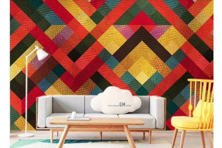 3D Solid Geometry Color Square Wall Mural Wallpaper  D10 Self-adhesive Laminated Vinyl-W: 210cm X H: 146cm