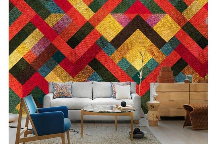 3D Solid Geometry Color Square Wall Mural Wallpaper  D10 Self-adhesive Laminated Vinyl-W: 320cm X H: 225cm