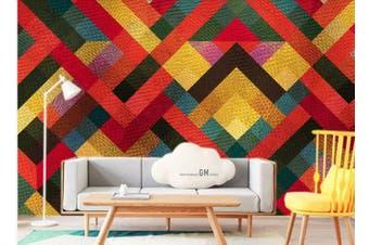 3D Solid Geometry Color Square Wall Mural Wallpaper  D10 Self-adhesive Laminated Vinyl-W: 525cm X H: 295cm