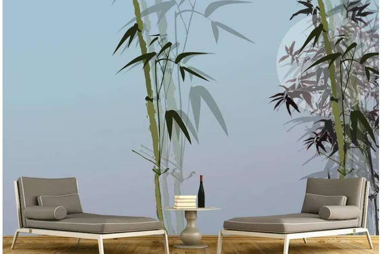 3D Chinese New Style Bamboo Forest Wall Mural Wallpaper  D9 Self-adhesive Laminated Vinyl-W: 320cm X H: 225cm