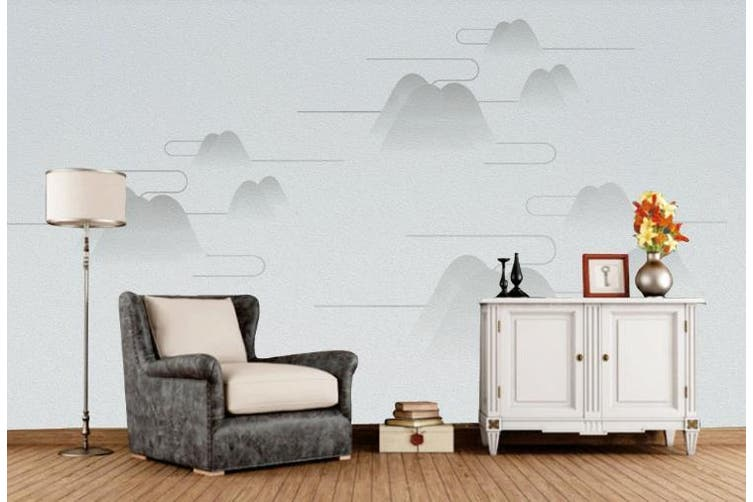 3D Chinese New Style Mountain Cloud Wall Mural Wallpaper  D8 Self-adhesive Laminated Vinyl-W: 420cm X H: 260cm