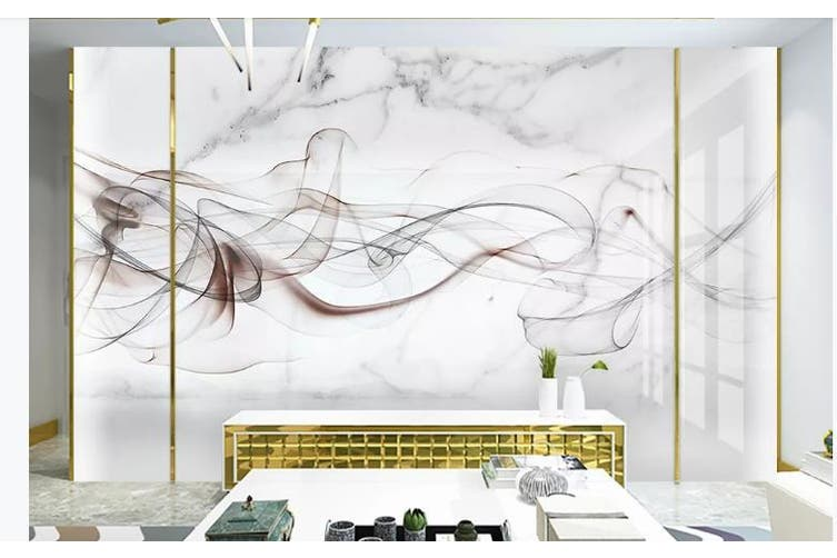3D Chinese New Style Ink Lines Wall Mural Wallpaper  D5 Self-adhesive Laminated Vinyl-W: 210cm X H: 146cm