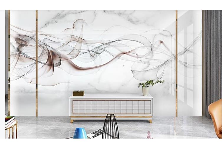 3D Chinese New Style Ink Lines Wall Mural Wallpaper  D5 Self-adhesive Laminated Vinyl-W: 420cm X H: 260cm