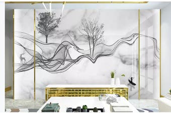 3D Chinese New Style Ink Lines Wall Mural Wallpaper  D4 Self-adhesive Laminated Vinyl-W: 210cm X H: 146cm