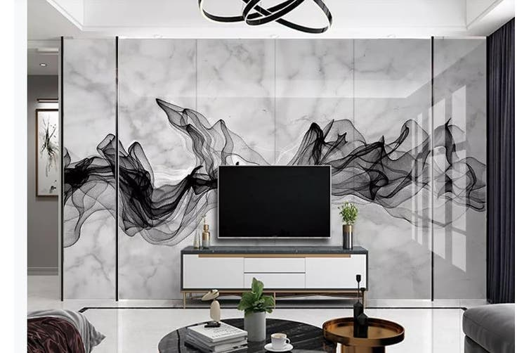 3D Chinese New Style Ink Lines Wall Mural Wallpaper  D2 Self-adhesive Laminated Vinyl-W: 525cm X H: 295cm