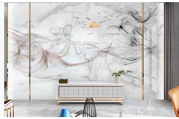 3D Chinese New Style Ink Lines Wall Mural Wallpaper  D1 Self-adhesive Laminated Vinyl-W: 320cm X H: 225cm
