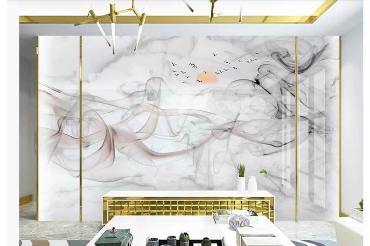 3D Chinese New Style Ink Lines Wall Mural Wallpaper  D1 Self-adhesive Laminated Vinyl-W: 525cm X H: 295cm
