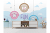 3D Cartoon Animal Kid Wall Mural Wallpaper 60 Self-adhesive Laminated Vinyl-W: 320cm X H: 225cm