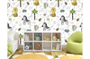 3D Cartoon Lion Zebra Wall Mural Wallpaper 59 Self-adhesive Laminated Vinyl-W: 525cm X H: 295cm