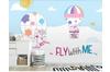 3D Cartoon Hot Air Balloon Wall Mural Wallpaper 58 Self-adhesive Laminated Vinyl-W: 320cm X H: 225cm