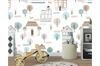 3D Cartoon House Tree Wall Mural Wallpaper 56 Self-adhesive Laminated Vinyl-W: 210cm X H: 146cm