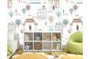 3D Cartoon House Tree Wall Mural Wallpaper 56 Self-adhesive Laminated Vinyl-W: 525cm X H: 295cm