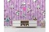 3D Purple Stripes Panda Wall Mural Wallpaper 54 Self-adhesive Laminated Vinyl-W: 210cm X H: 146cm