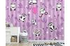 3D Purple Stripes Panda Wall Mural Wallpaper 54 Self-adhesive Laminated Vinyl-W: 525cm X H: 295cm