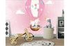 3D Cartoon Rabbit Hot Air Balloon Wall Mural Wallpaper 53 Self-adhesive Laminated Vinyl-W: 320cm X H: 225cm