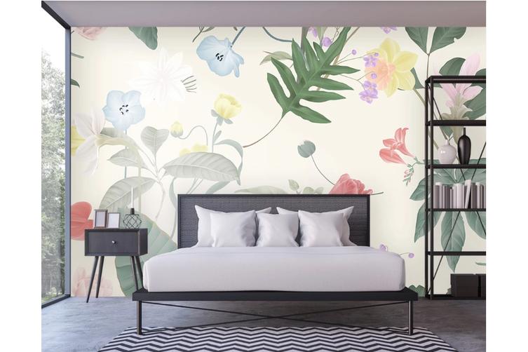3D Flower Leaves Wall Mural Wallpaper 47 Self-adhesive Laminated Vinyl-W: 210cm X H: 146cm