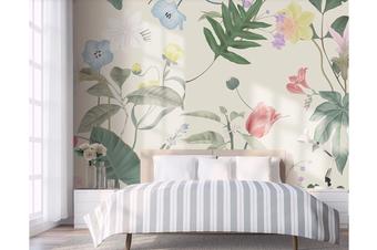 3D Flower Leaves Wall Mural Wallpaper 47 Self-adhesive Laminated Vinyl-W: 420cm X H: 260cm