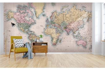 3D colorful world map wall mural wallpaper 37 Self-adhesive Laminated Vinyl
