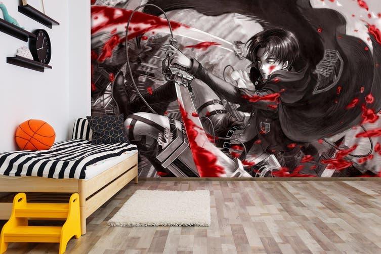3d Anime Attack On Titan Wall Mural Wallpaper Premium Non Woven Paper W 210cm X H 146cm Kogan Com