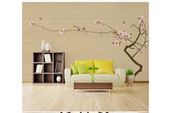 3D hand painting pink magnolia birds wall mural Wallpaper 192 Premium Non-Woven Paper-W: 210cm X H: 146cm