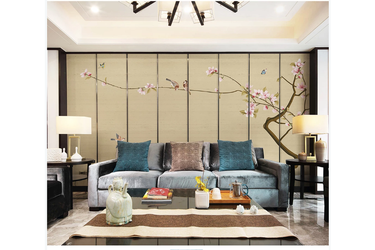 3D hand painting pink magnolia floral wall mural Wallpaper 189 Premium Non-Woven Paper-W: 420cm X H: 260cm