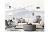 3D abstract mountain landscape wall mural Wallpaper 186 Premium Non-Woven Paper-W: 210cm X H: 146cm