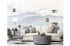 3D abstract mountain landscape wall mural Wallpaper 186 Premium Non-Woven Paper-W: 320cm X H: 225cm