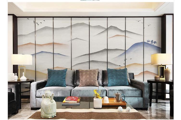 3D abstract mountain landscape wall mural Wallpaper 181 Premium Non-Woven Paper-W: 320cm X H: 225cm