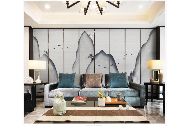 3D abstract mountain landscape wall mural Wallpaper 183 Premium Non-Woven Paper-W: 320cm X H: 225cm