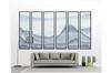 3D abstract mountain landscape wall mural Wallpaper 182 Premium Non-Woven Paper-W: 210cm X H: 146cm
