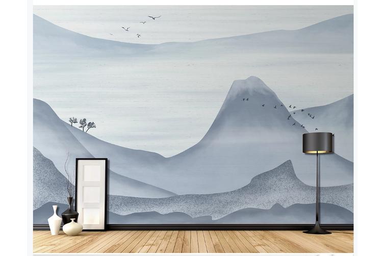 3D abstract mountain landscape wall mural Wallpaper 182 Premium Non-Woven Paper-W: 320cm X H: 225cm