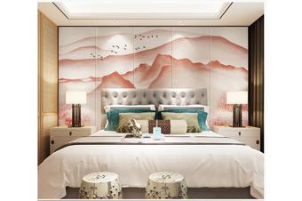 3D abstract mountain landscape wall mural Wallpaper 180 Premium Non-Woven Paper-W: 320cm X H: 225cm